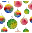watercolor balls seamless pattern With hand vector image vector image
