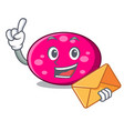with envelope ellipse character cartoon style vector image vector image