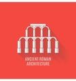 Ancient Roman architecture Long shadows vector image