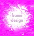vintage grunge pink frame design vector image