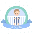 Cute baby boy Little baby in baby cot vector image