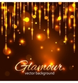 Glamour gold background Glamorous background vector image