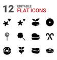 12 sugar icons vector image vector image