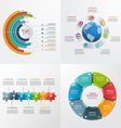 7 steps infographic templates business concept vector image vector image