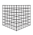 Abstract square with grid eps 10 vector image vector image