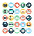 Advertising and Media Icons 1 vector image