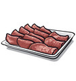 baked sliced veal vector image vector image