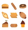 bakery products vector image