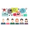 banner of speaking people chat teem work vector image