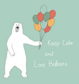 bear-and-balloons vector image