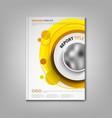 brochures book or flyer with orange circular vector image