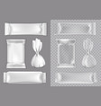 candy packaging mockup set isolated vector image