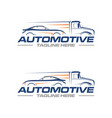 car and truck logo vector image vector image