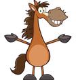 Cartoon horse vector image