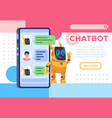 chatbot landing page online talking with helping vector image vector image