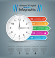 clock icon business infographics vector image vector image