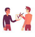 consent concept in flat vector image