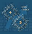 crypto currency background vector image vector image