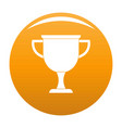 cup award icon orange vector image