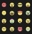 cute smile emoji pack elements eps10 vector image
