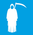 death with scythe icon white vector image vector image