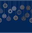 decorative border made of golden christmas ball vector image vector image