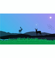 deers in mountain view vector image vector image