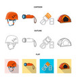 design of mountaineering and peak symbol vector image
