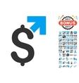 Dollar Growth Icon With 2017 Year Bonus Symbols vector image vector image