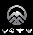 eagle insignia symbol concept set vector image