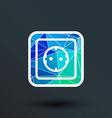 electric outlet icon button logo symbol concept vector image vector image