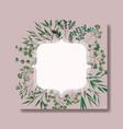 elegant frame with laurel leafs vector image vector image