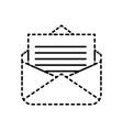 email message letter social media symbol vector image vector image
