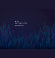 Futuristic science in blue line pattern background