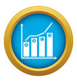 grow up chart icon blue isolated vector image vector image