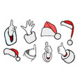 hands of santa claus vector image vector image