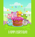 happy birthday greeting card birthday vector image