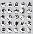 home security set on plates background vector image