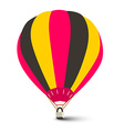 Hot Air Balloon Isolated on White Background vector image vector image