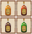 icons with pirate rum vector image vector image