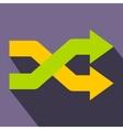 Intersecting arrows flat icon vector image vector image