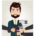 interview person on news vector image vector image