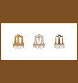 isolated pillar icon history element can be used vector image vector image