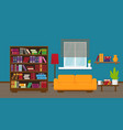 living room or apartment or library vector image vector image