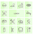 lunch icons vector image vector image
