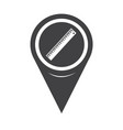 map pointer ruler icon vector image