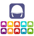 military helmet icons set vector image vector image