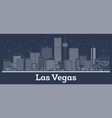 outline las vegas nevada city skyline with white vector image vector image
