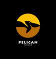 pelican bird logo icon vector image vector image