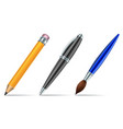 pen tools isolated on white background vector image vector image